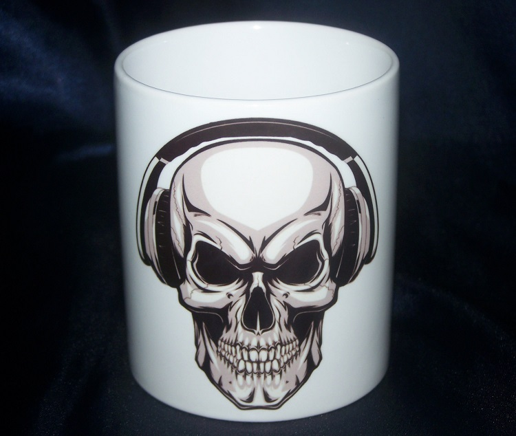 hrnek Headphone Skull